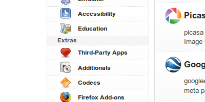 Added third-party apps category